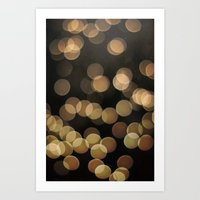 bokeh Art Prints featuring Bokeh by Christine VanFonda