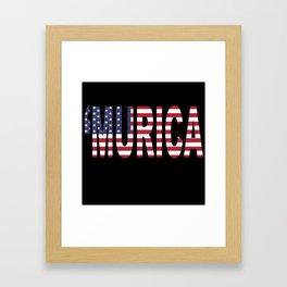 'Murica Framed Art Print