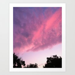 Color Bomb Sunset Art Print