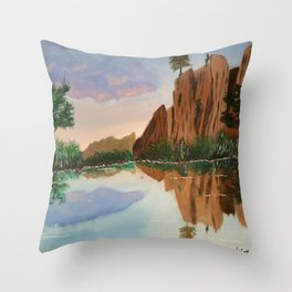 Cliffside Reflections Throw Pillow