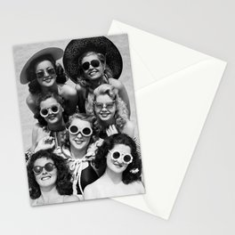 Vintage Girls In Sunglasses Stationery Cards