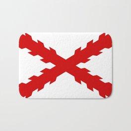 old spain conquistador flag Bath Mat