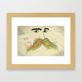 Moustache Man Framed Art Print