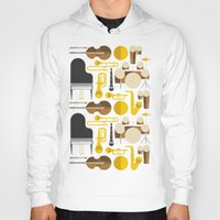mortal instruments Hoodies featuring Jazz instruments by Ana Linea