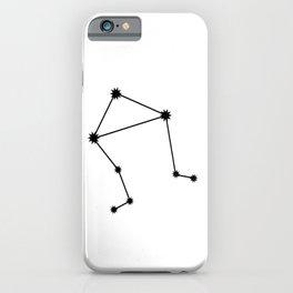 Libra Star Sign Black & White iPhone Case