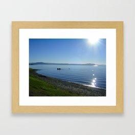 Sun glint off Lake Taupo Framed Art Print