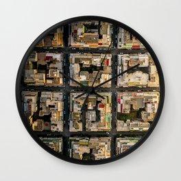 Blocks of Athens Wall Clock