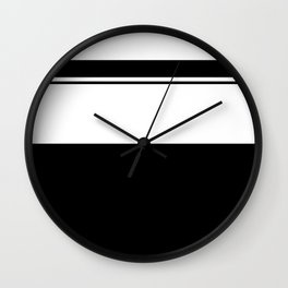 Black and white modern stripe pattern 13 Wall Clock