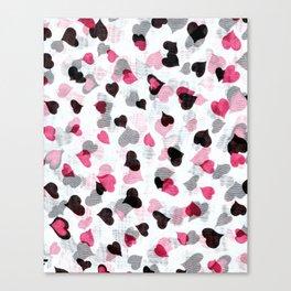 Raining love Canvas Print