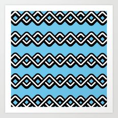 Digital weave Art Print