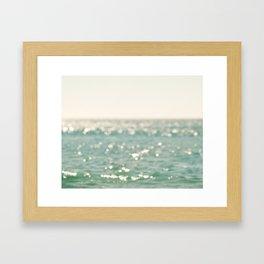 beach. bokeh sparkle. ocean. La Mer Framed Art Print