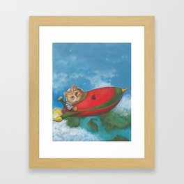 Major Tom Searches for Mouse Island Framed Art Print
