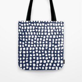 Dots / Navy Tote Bag