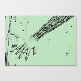 Bark Hand light green Canvas Print
