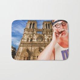 An American In Paris Notre Dame Bath Mat