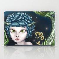 capricorn iPad Cases featuring Capricorn by Paula Ellenberger