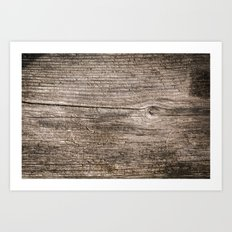 The old boards . Wood . Art Print