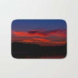 Sunset At The Lake Bath Mat