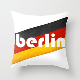 Berlin, with flag colors Throw Pillow