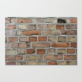 Vintage red brick wall texture Canvas Print