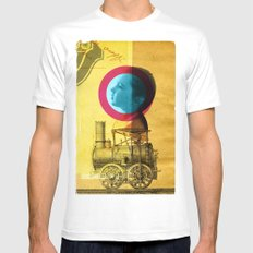 A childhood journey between reality and imagination... Mens Fitted Tee White MEDIUM
