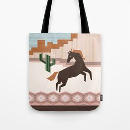 Wild Desert Horse Tote Bag