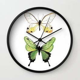 The Two Butterflies Wall Clock