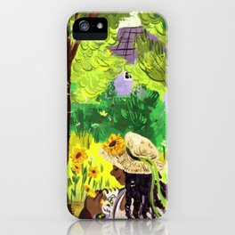 Artist in the Sunshine iPhone Case