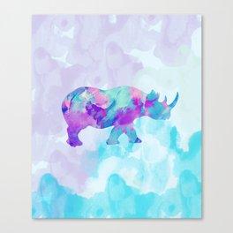 Abstract Rhino B Canvas Print