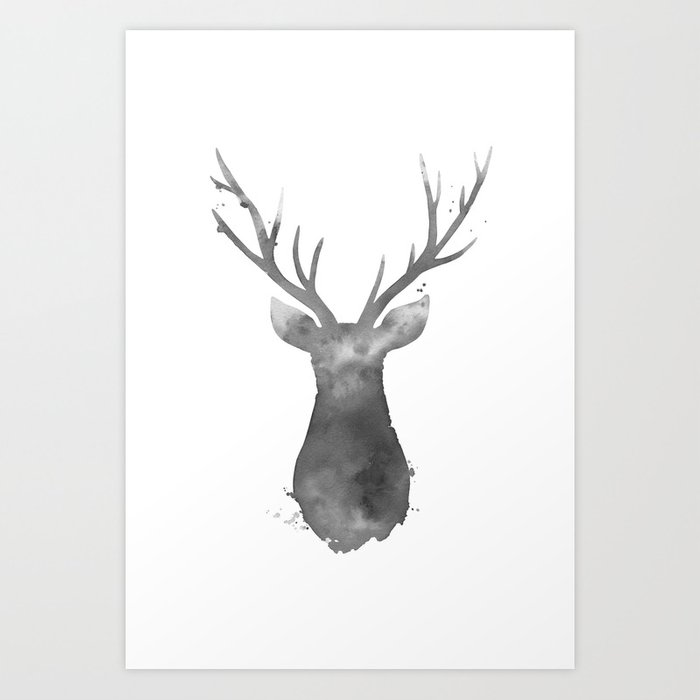 Discover the motif DEER by Art by ASolo as a print at TOPPOSTER