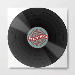 Retro Vinyl Record Metal Print