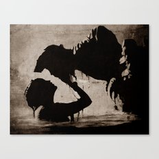 The kiss of the mermaid Canvas Print