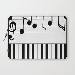 Music Notes with Piano Keyboard Laptop Sleeve