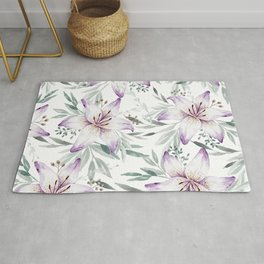 Lilium & Eucalyptus pattern Rug