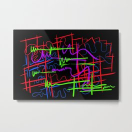 abstract neon splash Metal Print