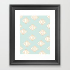 Spinning Gems Mint Framed Art Print