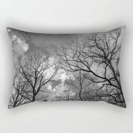Cloudy day in the forest Rectangular Pillow