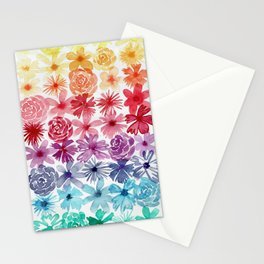 Floral Gradient Stationery Cards