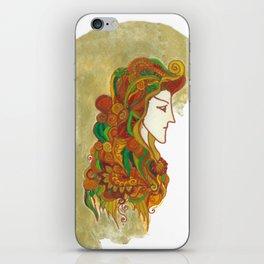 Golden Portrait iPhone Skin