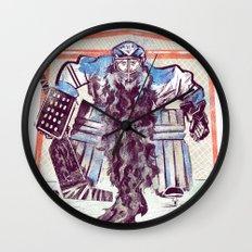 Playoff Beards Wall Clock