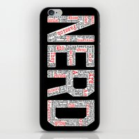 nerd iPhone & iPod Skins featuring NERD. by FOREVER NERD