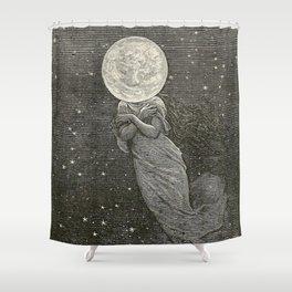 AROUND THE MOON - EMILE-ANTOINE BAYARD Shower Curtain