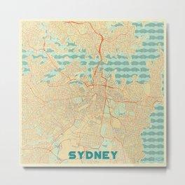 Sydney Map Retro Metal Print