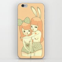 bunnies iPhone & iPod Skins featuring Bunnies by Mel Stringer