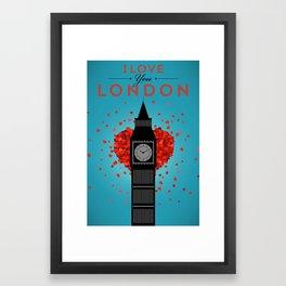 I Love You London Framed Art Print