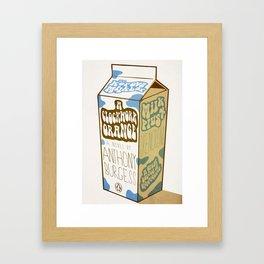 Milk Plus Framed Art Print