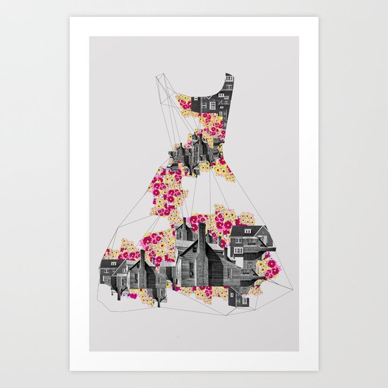FILLED WITH CITY II Art Print