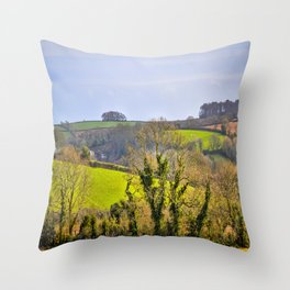 Mylor Walk - Rolling Hills Throw Pillow