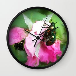 Beetle Invasion Wall Clock