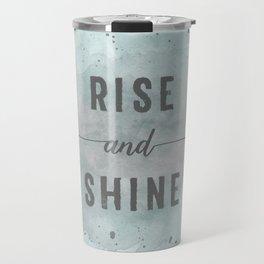 Rise and shine | watercolor turquoise Travel Mug